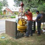 Installing turbine at Aquarion pilot site