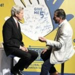 Frank Zammataro talking with John Kerry